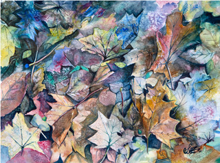 Autumn Leaves painting by Lez Gray