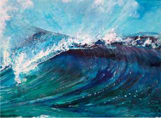 Surfing Waves painting by Lez Gray